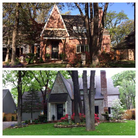 Exterior Before And After Used Muratic Acid To Remove Paint From Brick Clancy House Update