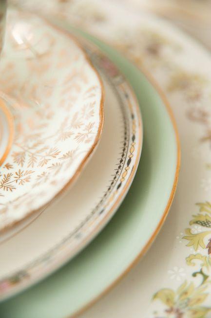 mixed vintage plates