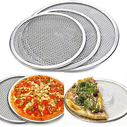 Huplue Flat Mesh Pizza Tray Screen Round Baking Tray Net Kitchen Pan 6inch 14inch Kitchen Home Cooking Tray Bakes Good Pizza