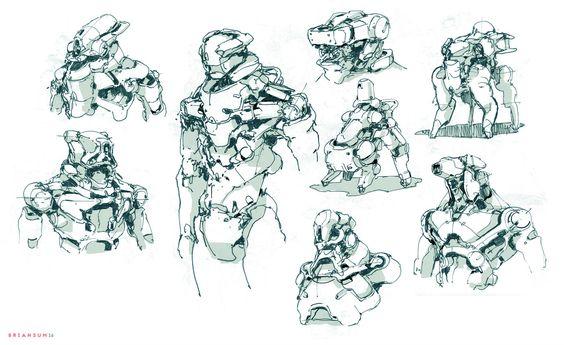 Sketches, Brian Sum on ArtStation at https://www.artstation.com/artwork/LgN0A