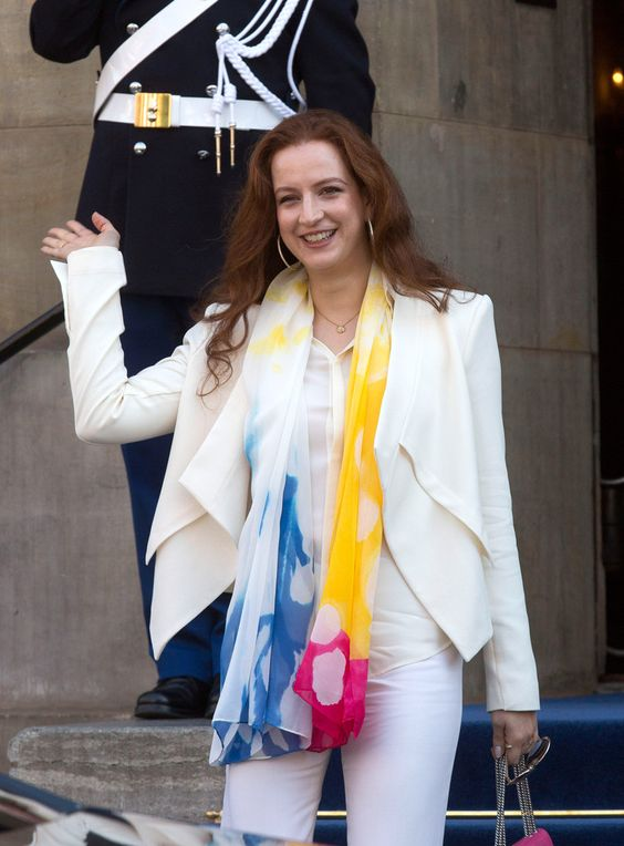 Lalla Salma of Morroco heads home after lunch with the new King and Queen in the Netherlands 5/1/13