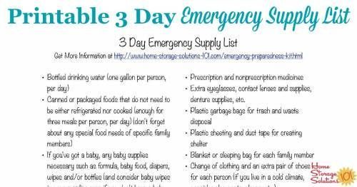 Best 25+ Emergency supplies list ideas on Pinterest Emergency - printable office supply list