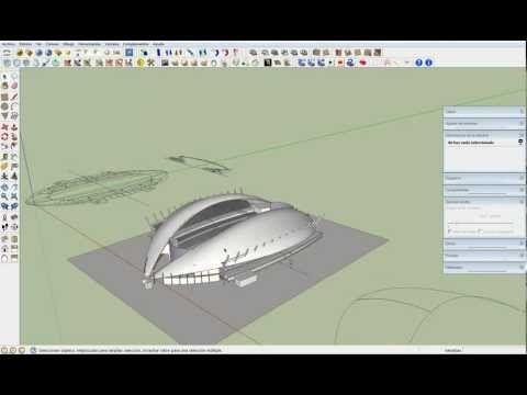 Formas concavas y convexas con Sketchup 2 - YouTube
