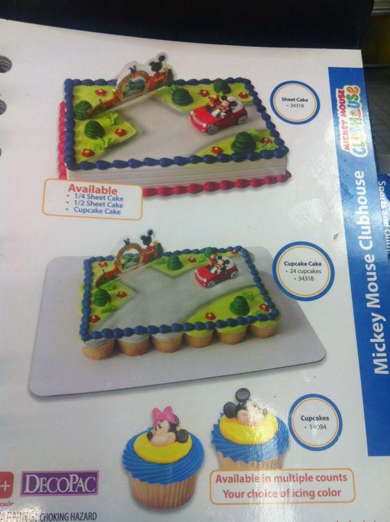 Mickey Cake Amp Cupcakes Walmart 1 2 Sheet 29 Mickey