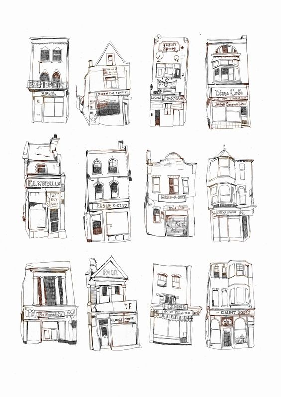 Great way to illustrate the architecture of a neighborhood.