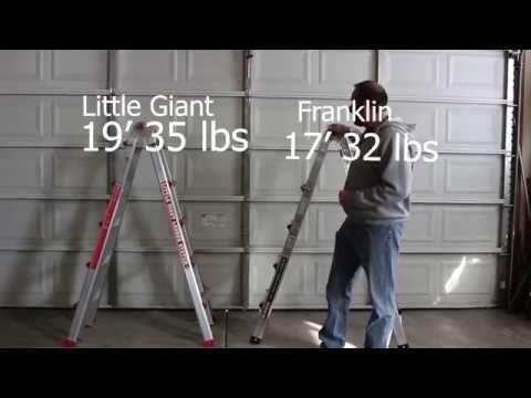 189 Little Giant Ladder Vs 99 Harbor Freight Ladder Little Giants Ladder Giants