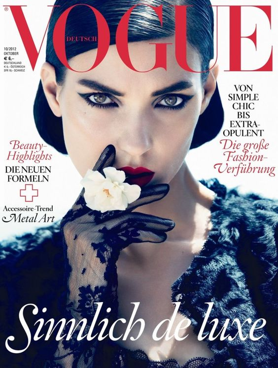 Kati Nescher is Lovely in Lace for Vogue Germanys October 2012 Cover