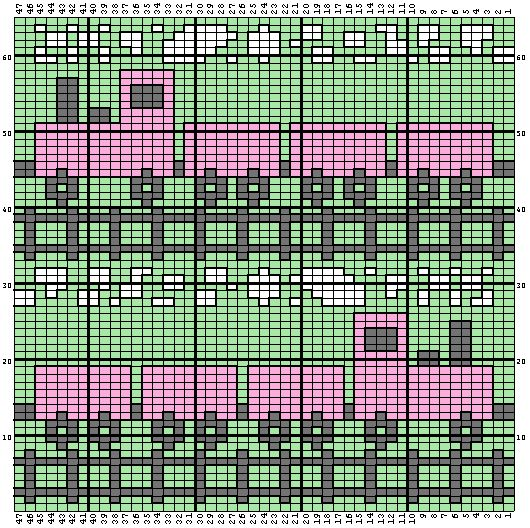 Knitting Designs In Graph : Free train afghan pattern using graph as crochet instead