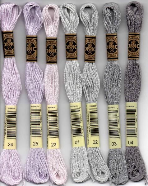 1 of each skein 01-35 set of the 35 new colours DMC Stranded Cotton Thread