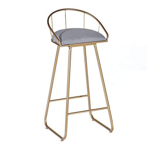 Xsj Barstools Bar Stools Breakfast High Chair With Metal Legs Footrest Backrest For Kitchen Pub Stool Simple Bar Stools Upholstered Seating Modern Bar Stools