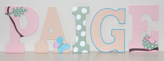 Adorable custom names for the nursery! Check out Je m'appelle on Facebook