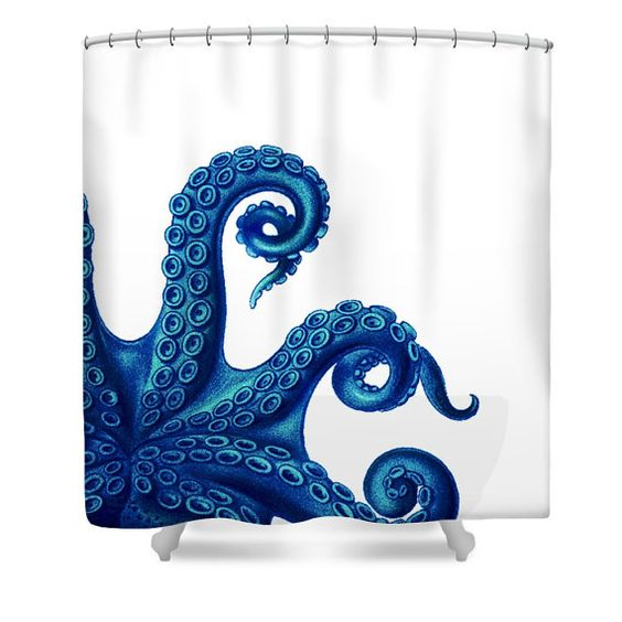 octopus shower curtain octopus bathroom decorfolkandfunky