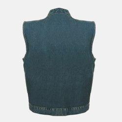 SOA motorcycle leather vest for sale blue
