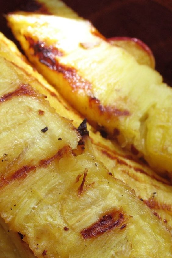 Grilled Pineapple With Coconut-Condensed Milk-Butter Sauce Recipe ...