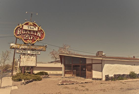 The Roaring 20's, Route 66, looks completely abandoned