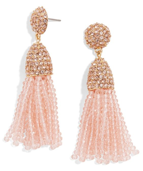 Beautiful beaded tassel earrings