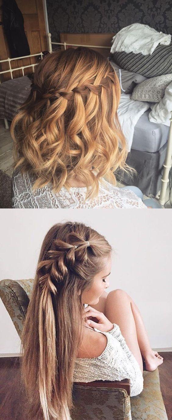 5 Minutes Hairstyles For The School Beauty Hairstyles Geflochtene Frisuren Flechtfrisuren Frisur Standesamt
