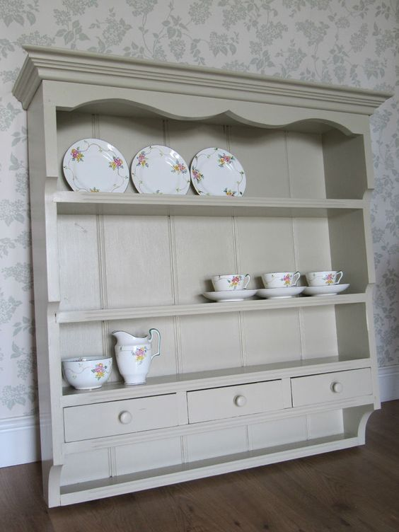 shabby chic white farmhouse and shelving units on pinterest. Black Bedroom Furniture Sets. Home Design Ideas