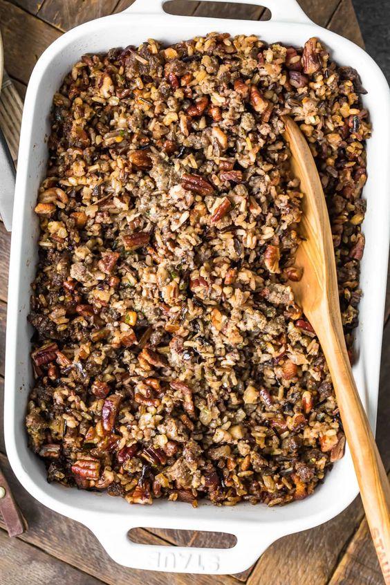 Wild Rice Sausage Stuffing