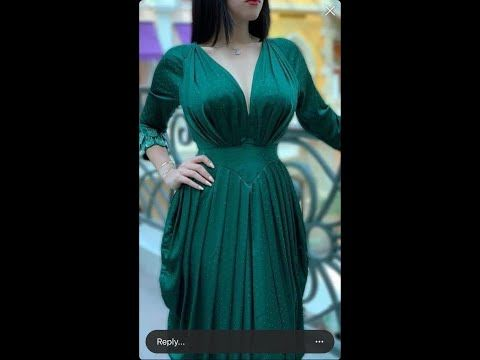 فستان درابيه مميز للعيد Youtube Dresses With Sleeves Fashion Dresses