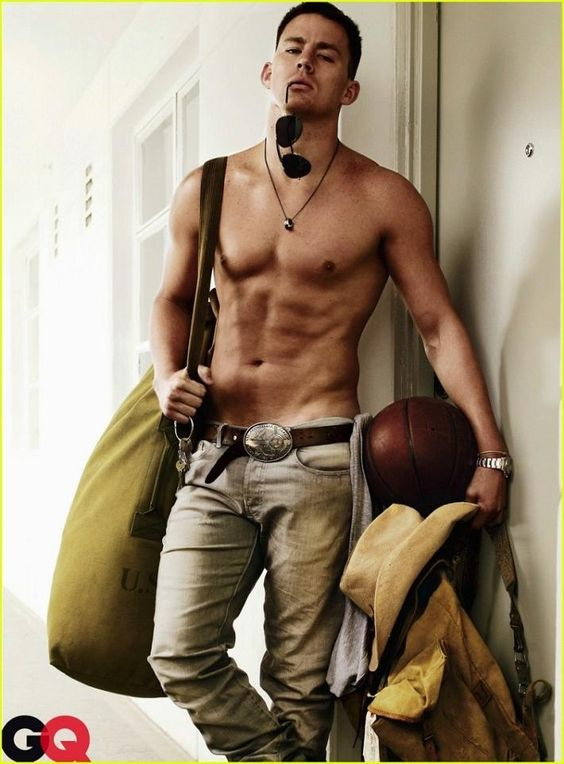 Channing Tatum all I have to say is I would not mind waking up to that every day.