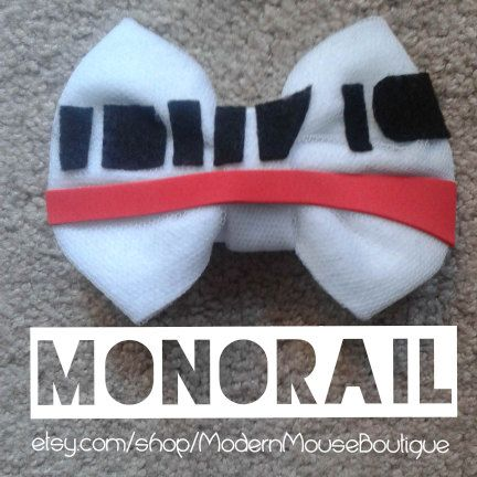 Monorail Bow by ModernMouseBoutique on Etsy