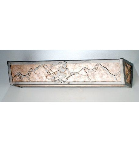 Bathroom Vanity Light No Junction Box : Skiers, Nickel finish and Sled on Pinterest