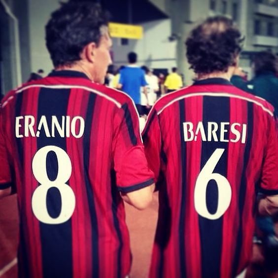 Captain Franco Baresi and Stefano Eranio back together, like in the good old days! #MilanGlorie #China