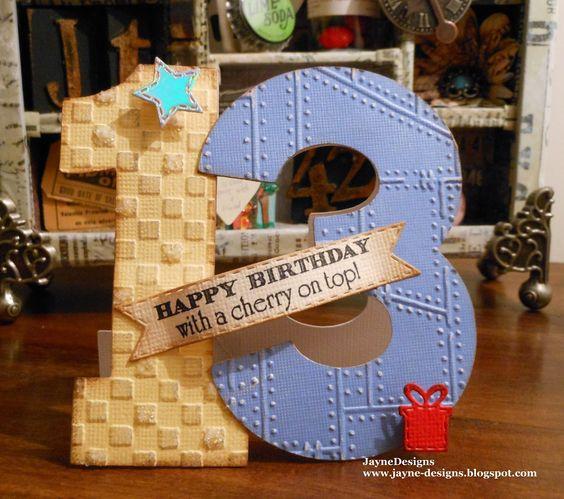 13 Today! Card - Birthday Bash Cricut Cartridge