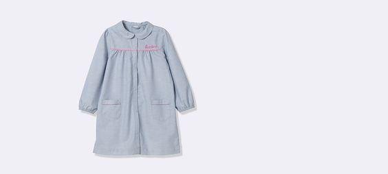 TABLIER FILLE CHAMBRAY Chambray