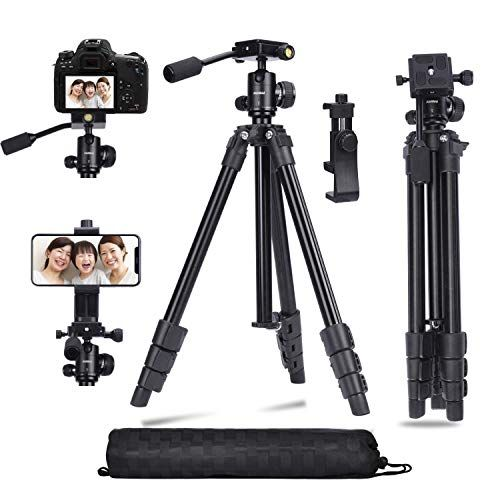 Color : Black, Size : One Size Complete Tripods Mini Metal Tripod 360 Degree Ball Head Holder Stand Mount for DSLR Camera for Man Lightweight Tripod