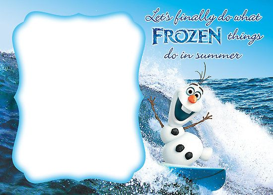 Frozen Invitation Template Blank All things frozen birthday