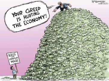Raising the minimum wage won't 'fix' the economy either. #Political Cartoons