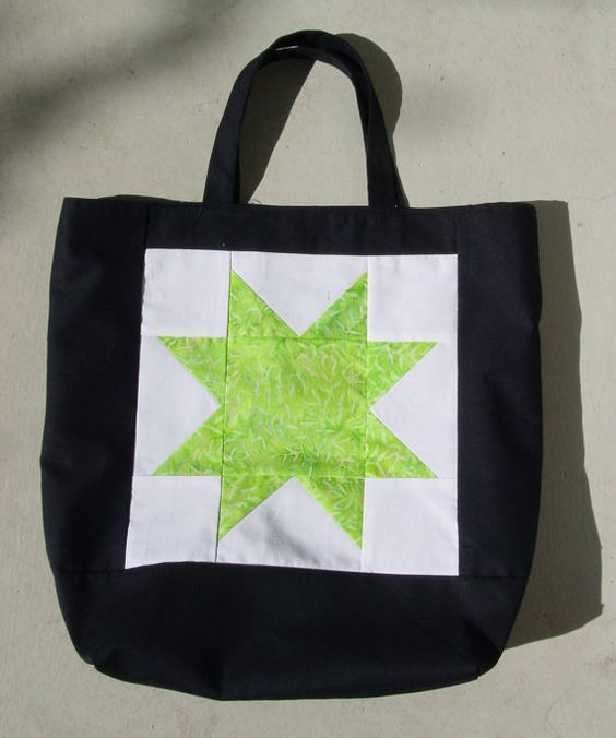 Fully Lined Star Tote Bag by SarahsCottonPatch on Etsy