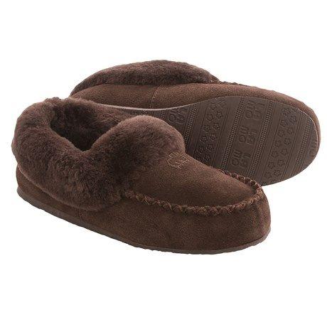 LAMO Footwear Australian Bootie Slippers - Suede, Sheepskin Fleece Lining (For Women)