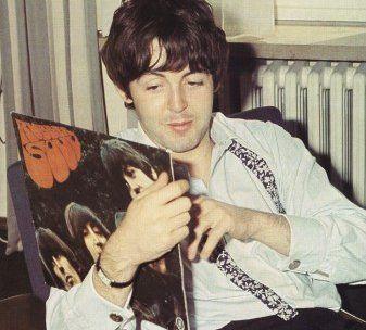 Paul McCartney with Rubber Soul.