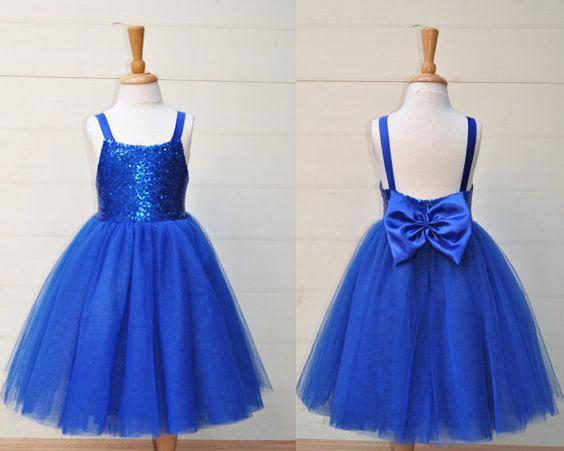 Royal blue flower girl dress backless toddler girl by YouthStudio ...