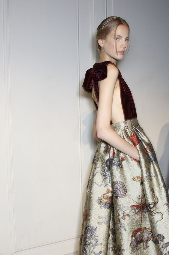 Valentino at Couture Fall 2013 (Backstage)