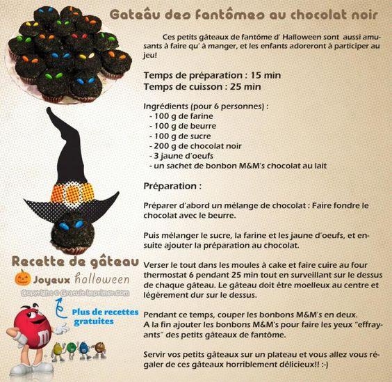 Halloween on pinterest - Recette gateau halloween facile ...