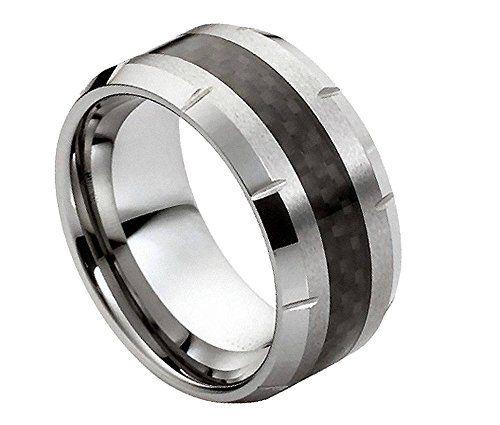 Tungsten Carbide Band Black Carbon Fiber Inlay Men's Wedding Ring Size 9.5 Sac Silver http://www.amazon.com/dp/B00NMP6ITC/ref=cm_sw_r_pi_dp_EwELvb0G5PV70