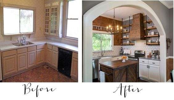 Sharing some of my favorite Fixer Upper Kitchen Before and Afters. Tons of…