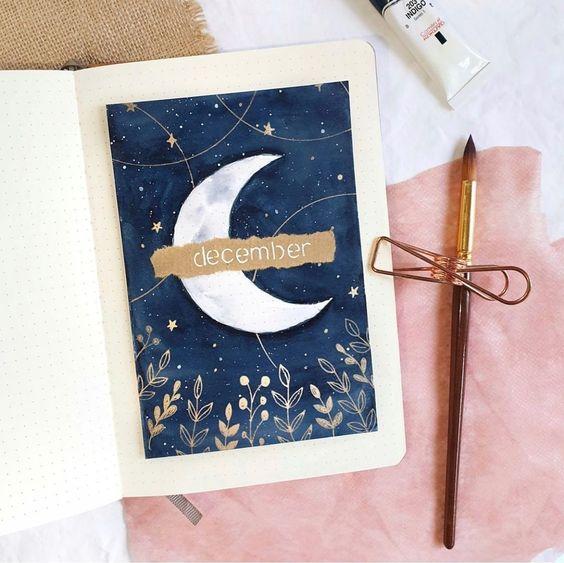 30 idées pour votre page de décembre dans votre Bullet Journal - @whimsical.doodles on instagram
