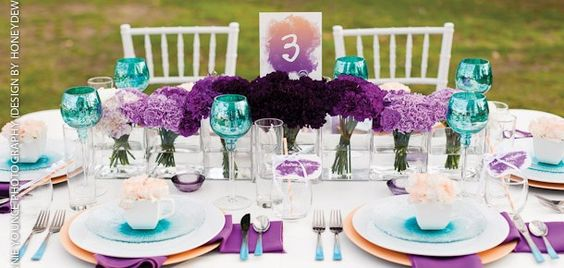 purple & turquoise this is almost the exact colors i will need
