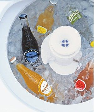 Cool Party Beverages in Your Washing Machine by realsimple: Sidestep the dedicated cooler, save space in the frig and avoid the mess of melting ice! #Beverage_Cooler #Entertaining #realsimple #Washing_Machine