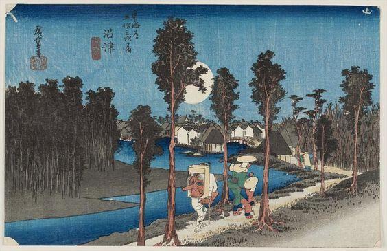 13 沼津(黄昏図)|歌川広重|東海道五十三次