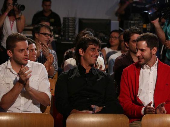 Os diretores Bruno Martins (à esq.), Adriano Melo (meio) e Thiago Teilelroit (à dir.) (Foto: Carol Caminha/Gshow)