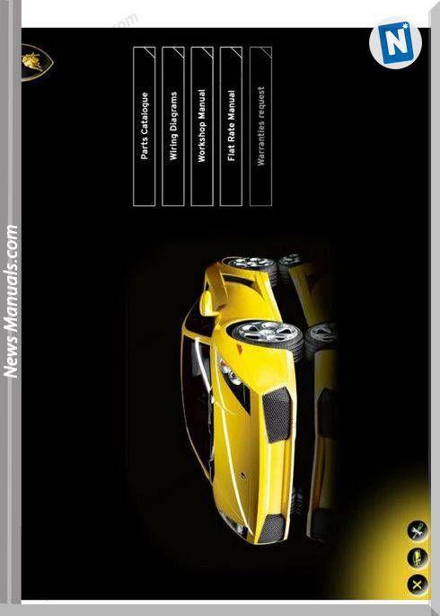 Lamborghini Gallardo Models 10 2003 Workshop Manual Sports Cars Luxury Car Lamborghini Gallardo