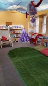 Storytime reading area