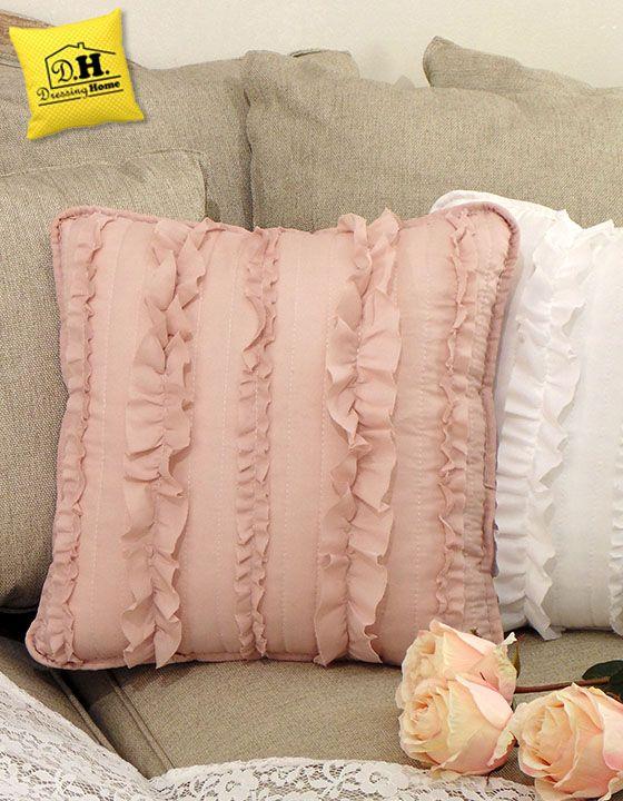 Federe Cuscini Shabby.Cuscino Arredo Quadrato Shabby Chic Royal Collection Colore Rosa