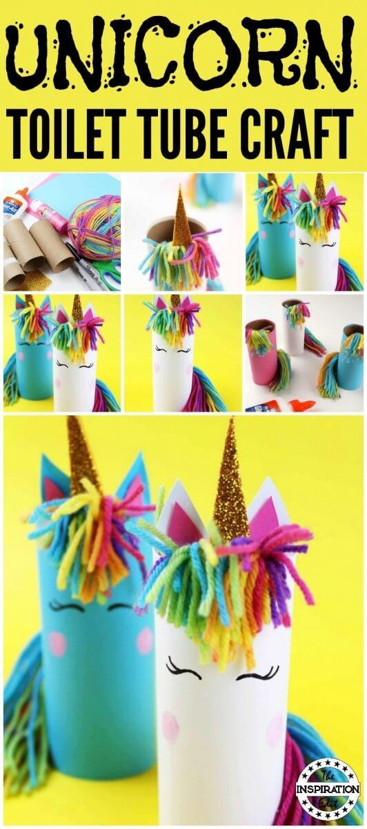 Diy Unicorn Craft Using Toilet Tubes Unicorn Crafts Crafts For